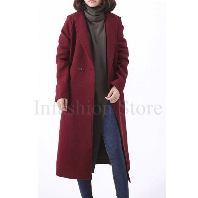 Women Long Wool Coat With Quilting Oversize Trench Peacoats Winter New Design Fashion Cashmere Camel Thick Long Women Wool Coats
