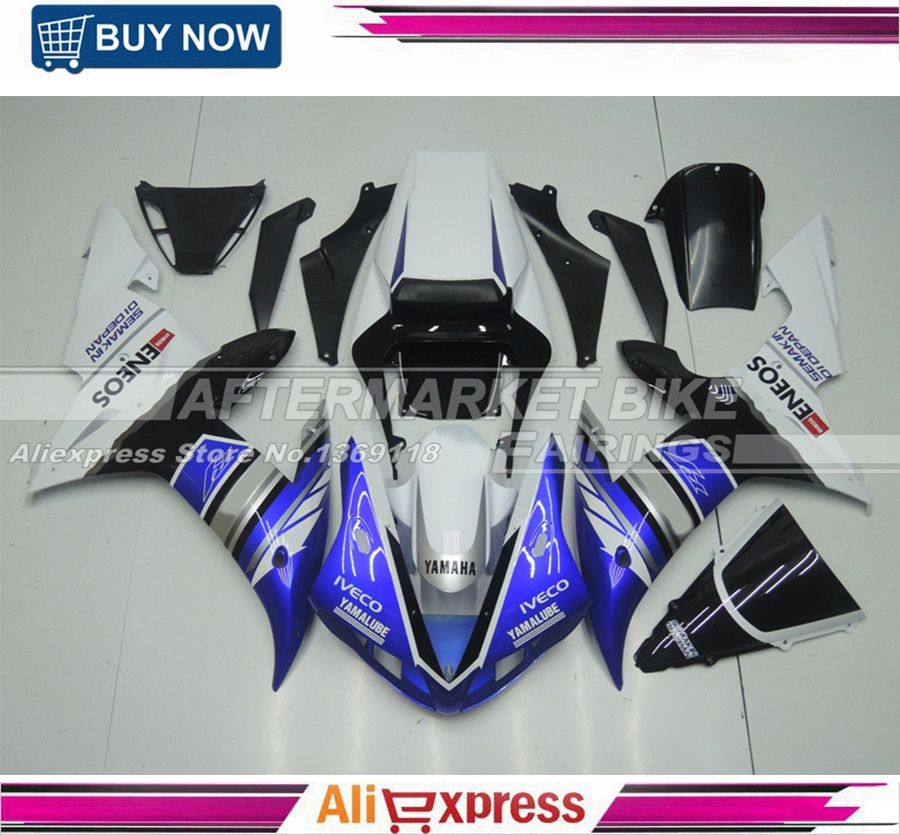 100% Good Quality Durable ABS Plastic Motorcycle Cover For Yamaha YZF R1 2002 2003 Injection Fairing Bodywork With Windshield