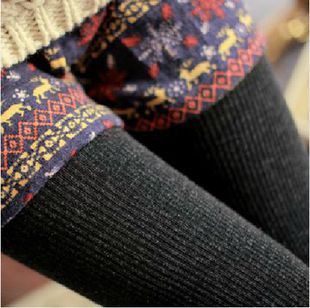 Free shipping New Wool blend Winter Women Warm footless Tights Pantyhouse Thermal Knit