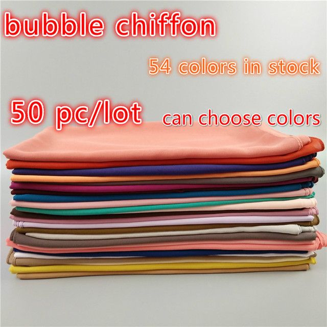 plain bubble chiffon solid color shawls headband beach popular hijab summer muslim scarves/scarf 50pcs/lot size 180*75cm