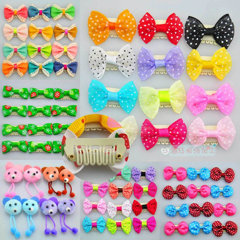 Universal clamp  beautiful flower pet cats and dogs bow pet hair accessories can Flower Clip 100pcs