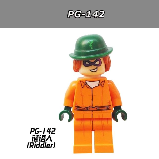 10pcs/lot PG142 The Riddler 2017 The Batman Movie Arkham Asylum 70912 Building Blocks Toys for Children Gift  Hobbies PG8042