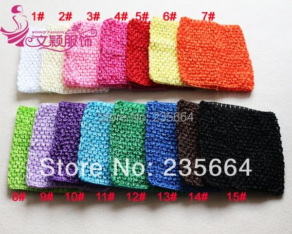 Girls Puberty Hot Sale 15x15cm Baby Girl 6inch Crochet Tutu Tube Tops Chest Wrap Wide Headbands Free Shipping 10pcs/lot Colors
