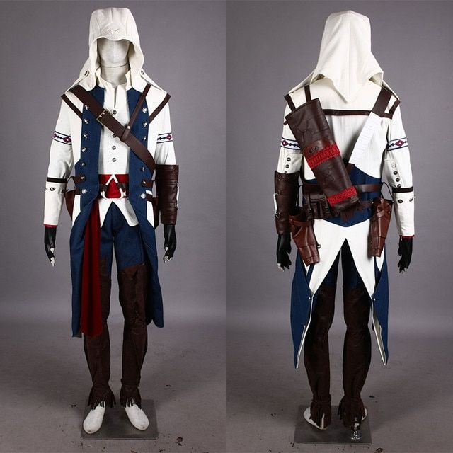 Ezio Auditore Cosplay Costume From Assassins Creed Anime