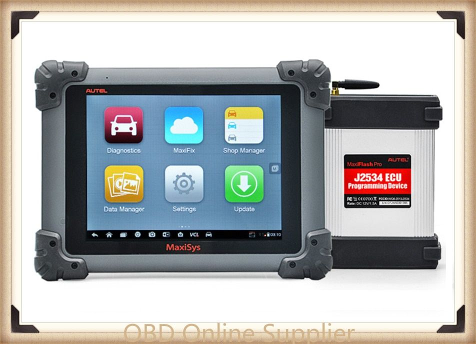 AUTEL MaxiSys Pro MS908P Auto Diagnostic & ECU Programming System with J2534 reprogramming box Update Online