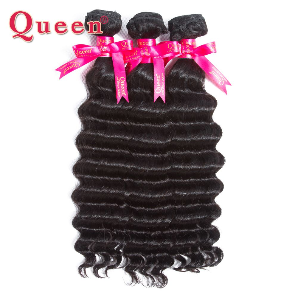 Queen Hair Products Malaysian Hair Loose Deep More Wave Remy Human Hair Weave Bundles Can Buy 3 or 4 bundles With Closure