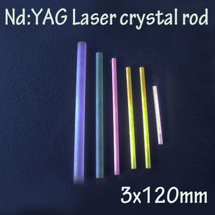 3x120mm Nd: YAG laser crystal rods