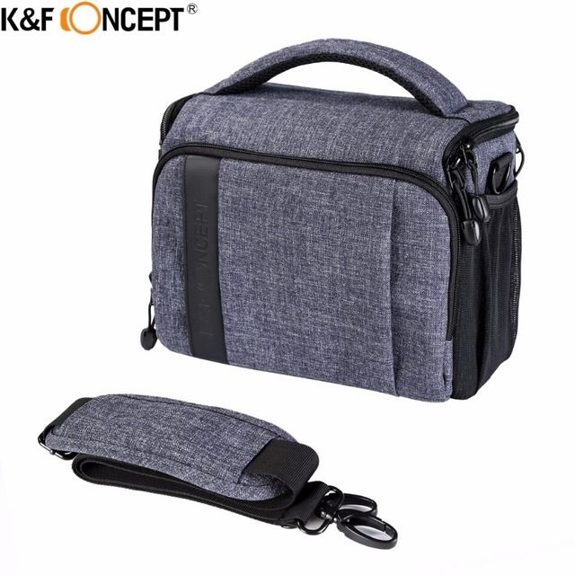 K&F CONCEPT High-quality Camera Shoulder Bag(L)/Handbag With Rain Cover Hold 1 Camera+2 lens+Small Accessories for Travelling