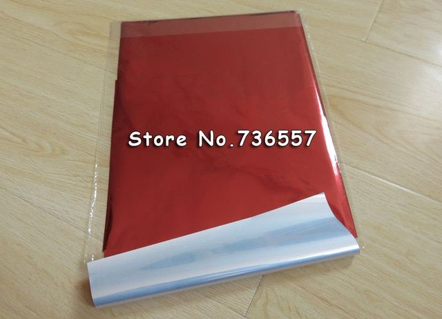 Free Ship A4 Hot Stamping Lamiating Foil Paper Red 20x29cm Laminator Transfered on Elegance Laser Printer Business Card 50pcs