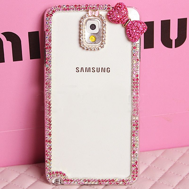 Bling bowknot crystal Diamond Coque Case For Samsung Galaxy S3 S4 S5 S6 S7 edge plus S8 plus S8 C5 C7 E5 E7 On5 On7 Capa Fundas