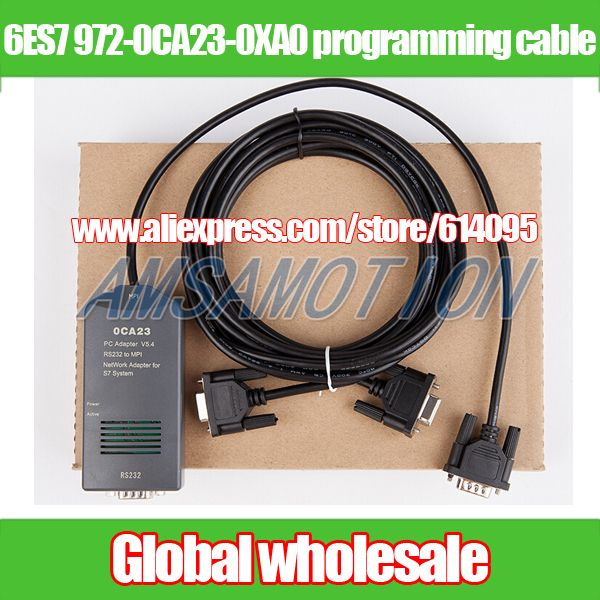 1pcs PLC download cable for Siemens S7300 400 / 6ES7 972-0CA23-0XA0 / PC-MPI + programming cable / 0CA23 RS232 to MPI adapter
