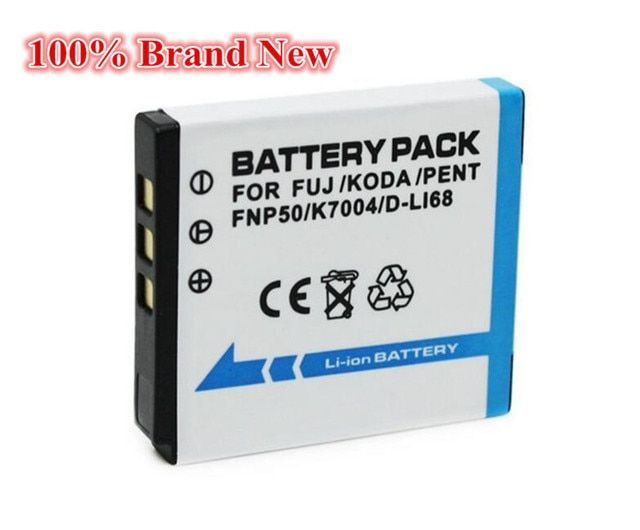 950mah 100% brand new Replacement Camera Battery For Kodak  KLIC-7004 KLIC 7004 KLIC7004 K7004 NP-50 NP 50A D-LI68 D LI68 DLI68