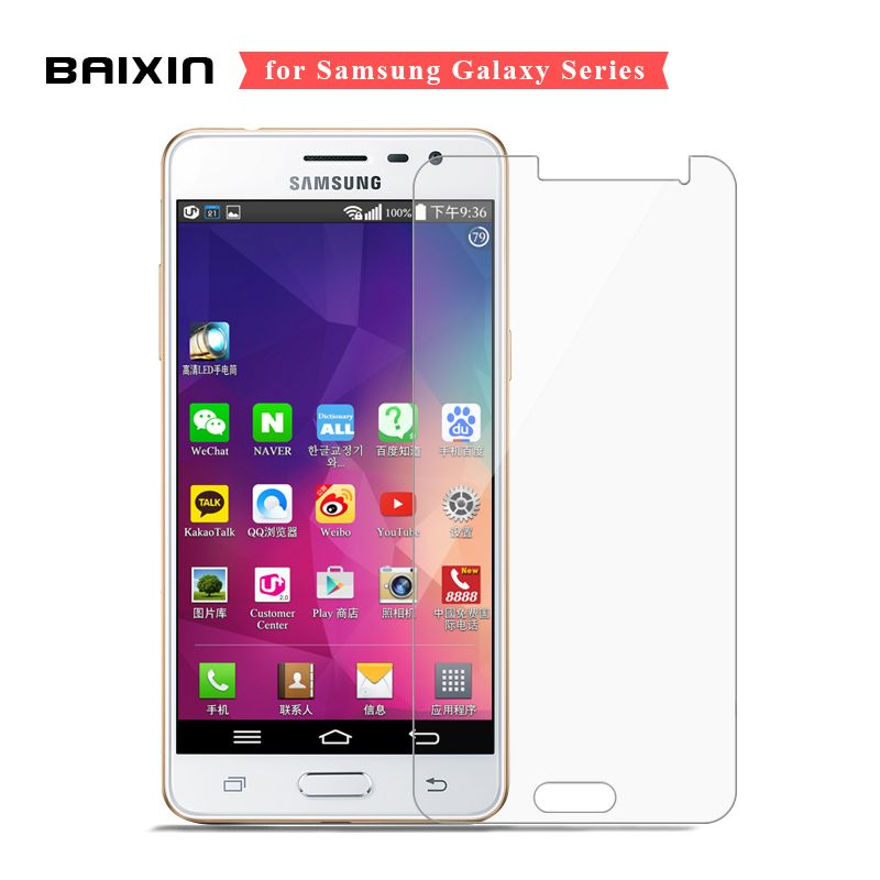 Baixin Screen Protector For Samsung Galaxy J5 J7 J1 J3 2016 Tempered Glass For Samsung Note 4 3 5 2 Alpha Protective Glass Cover