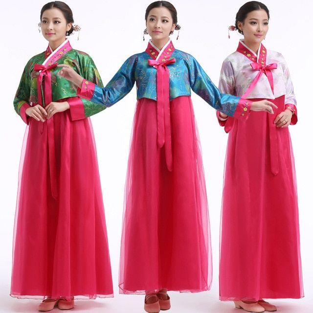 7 Color Hanbok Korean Traditional Dresses ethnic Korean dance costumes National Costume Korean court bride clothing 527