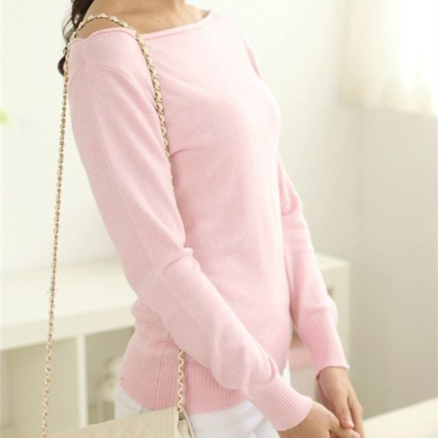 2017 new style sweater women wool sweater sexy pullover casual spring and autumn basic pullover ladies