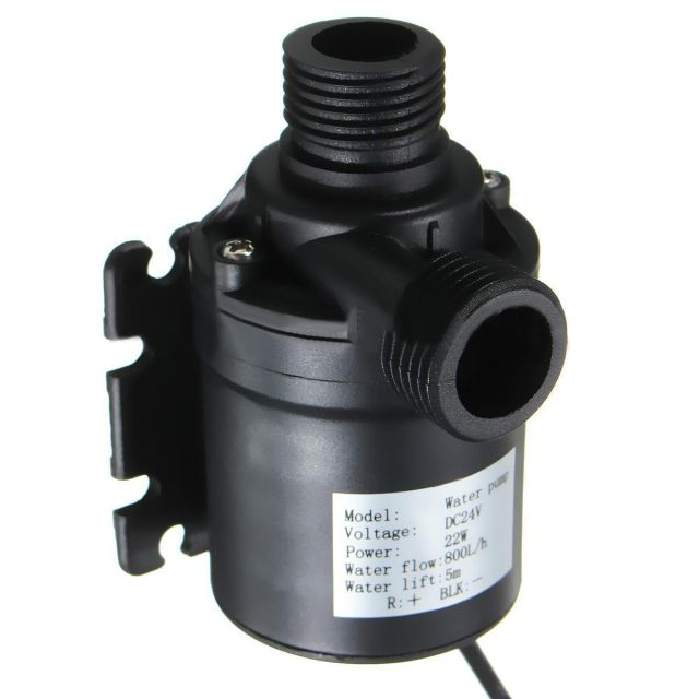 1pc Mini Brushless Water Pump 12V 24V ZYW680 Solar Water Circulation Pump DC Motor 800L/H