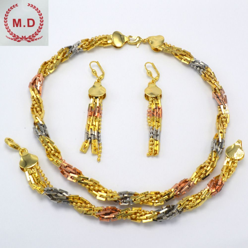 "M.D Shop Jewelry Set For Women Wholesale ""ITALY 750 ""Fashion Jewelry One color  2016New Best Sellrs"
