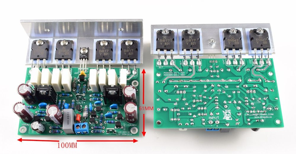 LJM Assembled Stero amplifier board L20 power amplifier board mounted with Angle aluminum