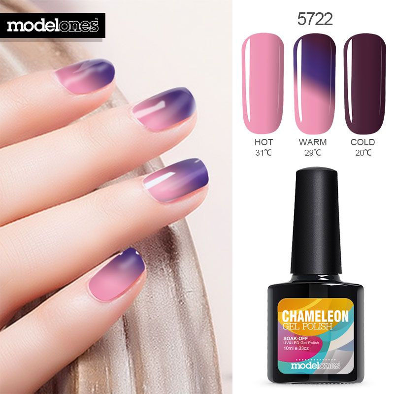 Modelones High Qulaity UV Nail Gel Polish Temperature Nails Varnish Long Lasting Professional UV Gel Nail Polish Thermo Gel