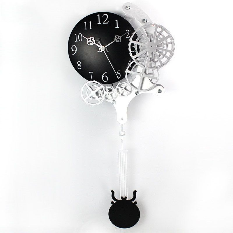 2017 Hot High-quality Gear Wall Clock Dynamic Mechanical Appearance of Fashion Home Decorations Pendulum Clock Design Clock
