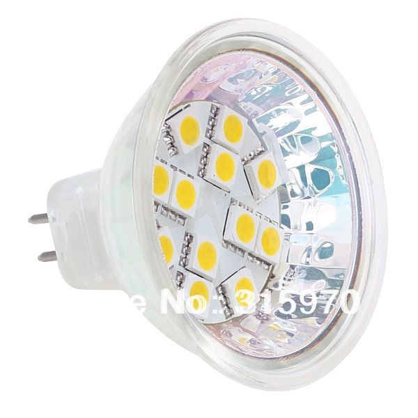 12Leds MR16  Bulb Led Lamp 12V 24V 10-30V 5050SMD 2.4W 180LM Commercial Engineering Indoor Professional Sailing 10PCS/LOT