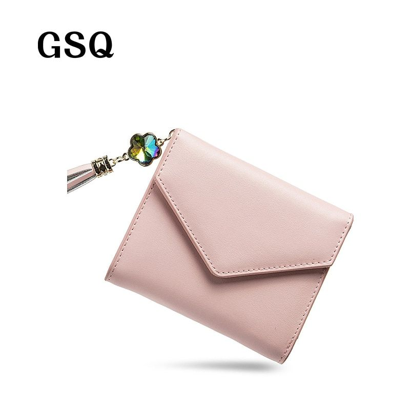 GSQ Fashion Cute Hasp Women Leather Wallet Women Wallet Zipper Coin Pocket Card Holder Hot Pocket High Quality Girl Purse NQ1158