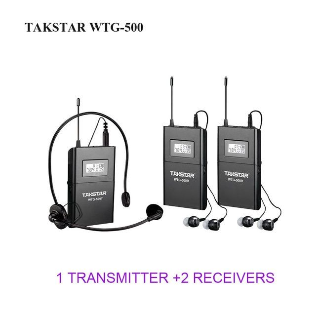 Takstar WTG-500/WTG 500 UHF Wireless Acoustic Transmission System for Tourist guide/Teaching ect. 1 Transmitter+2 Receiver