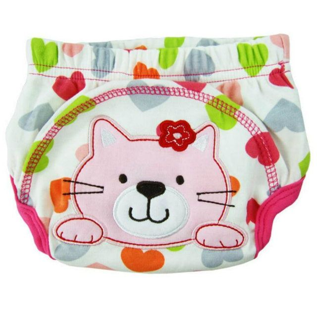 5Pcs Cute Baby Diapers Reusable Nappies  Washable Infants  panties Baby Cotton Training Pants Nappy Changing S M L