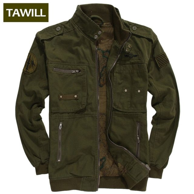 TAWILL 2016 Military jean Army bomber Men Jackets Coats Autumn Air force one Casual men's jacket Brand Clothing 331