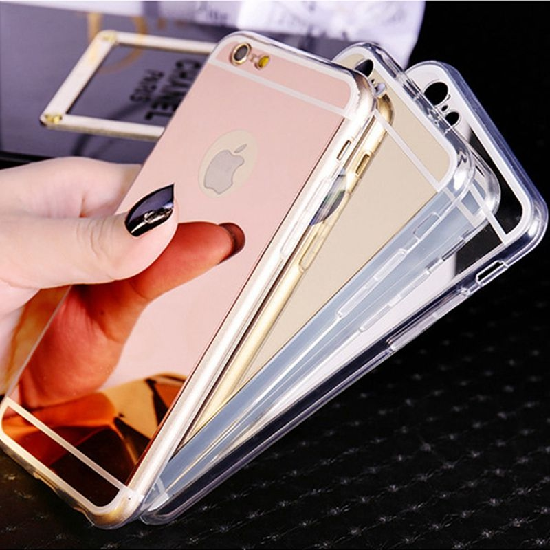 MISSCASS Makeup Phone Case for iphone 6 6s plus 5 5s se Acrylic mirror + soft TPU bumper cover coque for iphone 7 plus case capa