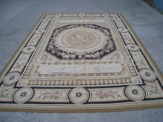 Free shipping 2015 New Design of 9'x12'  French Aubusson rug, French Aubusson Carpet for Home Decoration,