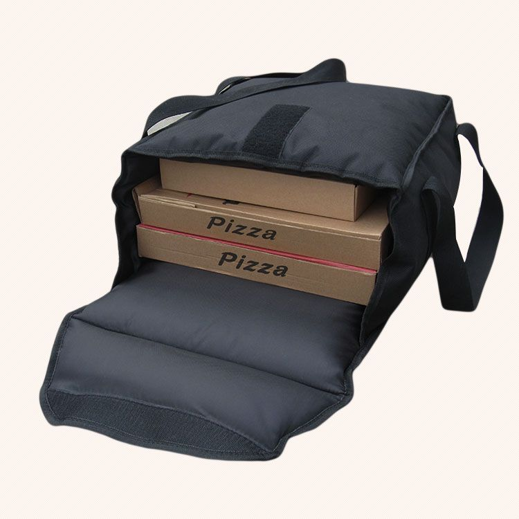 36*36*18cm  Food delivery bag for 8-13inch  Pizza thermal insulation bag pizza delivery bag-black color Take out food