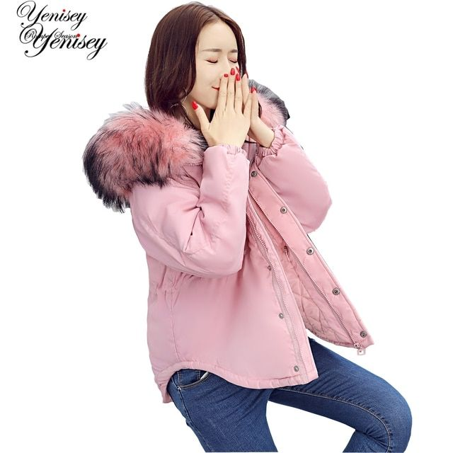 New women's cotton padded winter jacket cotton slim hooded cotton feather female 0720