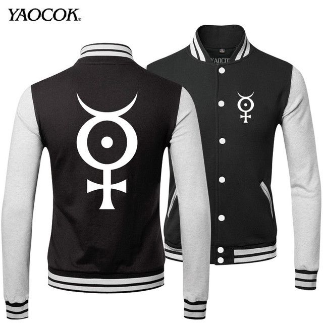 2016 New Winter Slim Hip Hop Streetwear Clothing Punk Cotton Marilyn Manson Rock Band Mens Punk Uniform Coats And Jackets