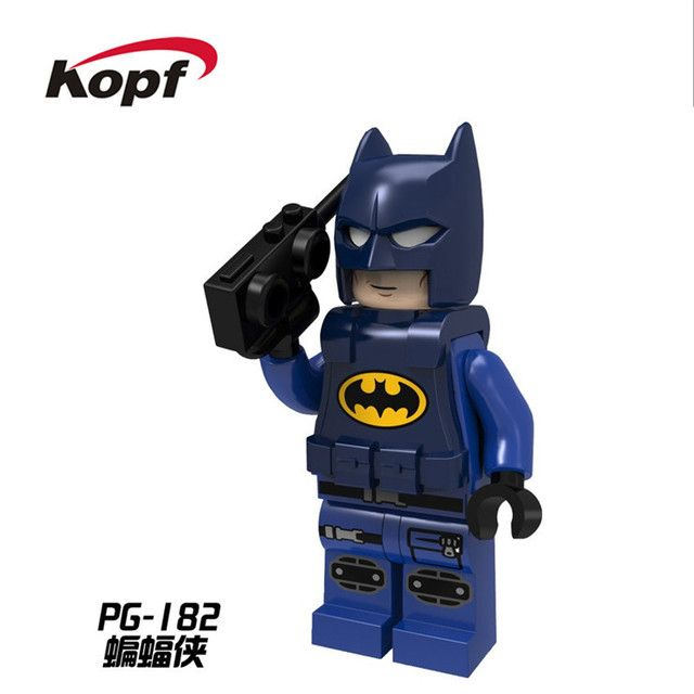 Wholesale 50Pcs Super Heroes Police Batman with Cellphone Bricks Movie Building Blocks Education Toys for children Gift PG182