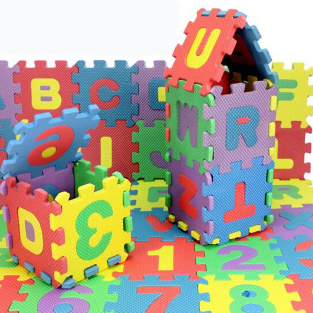 36PCS Baby Kids Eva Foam Numbers And Alphabet Play Mat Educational Floor Mats