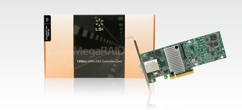 RaidStorage LSI MegaRAID SAS 9380-8e LSI00438 SFF8644 1GB cache PCI-E3.0 x8 Low Profile RAID Controller Card Avago Technologies