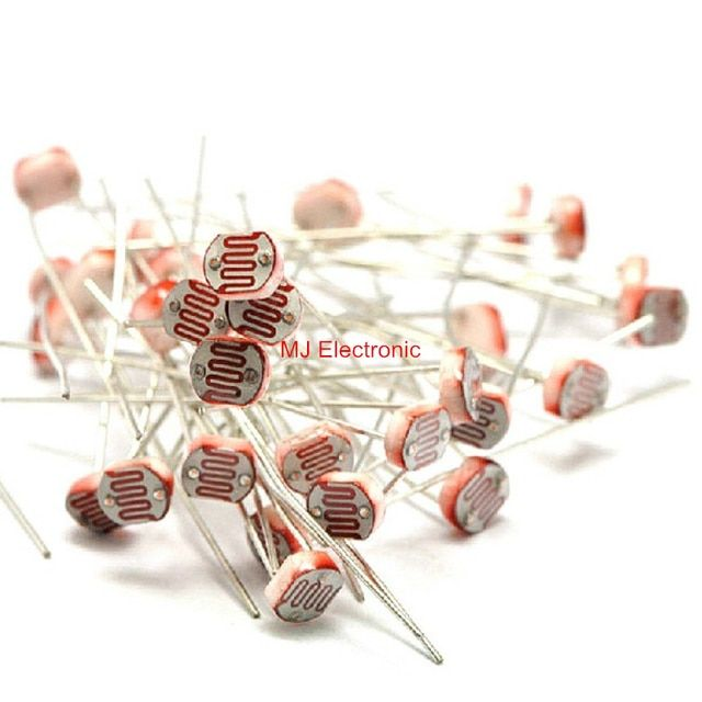 20pcs/lot 5537 Light Dependent Resistor LDR 5MM Photoresistor wholesale and retail Photoconductive resistance for arduino