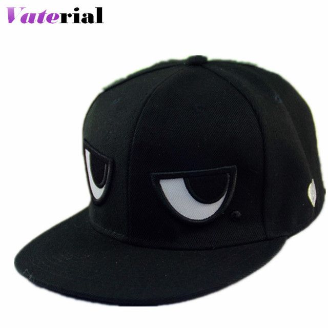 2016 Summer New Black White Eyes Hip Hop Hat Summer Network Explsion Flat Along Baseball Cap Hip Hop Hat VB0508