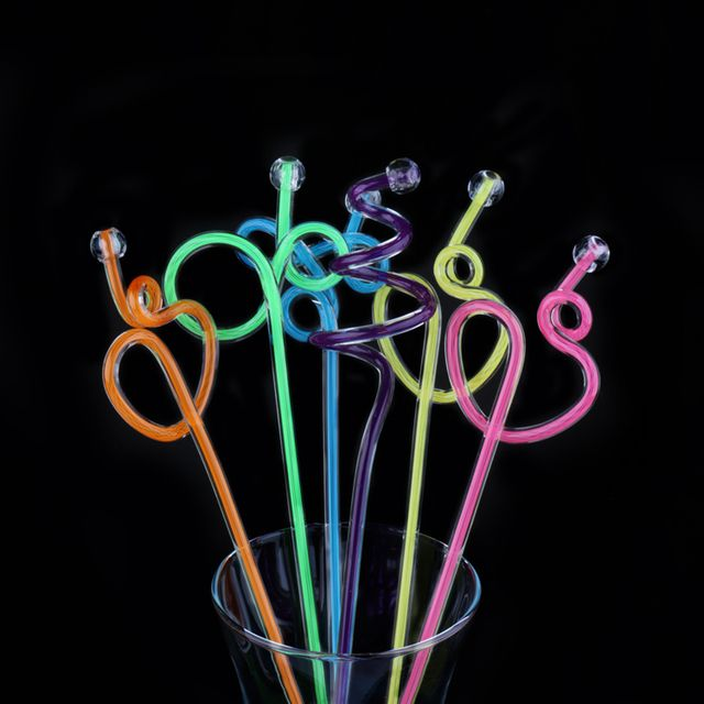100pcs/lot Acrylic Swizzle Stick Fruit Juice Transfer Rod Stirring Rod Kitchen Drink Mixing Paddle Length 27cm
