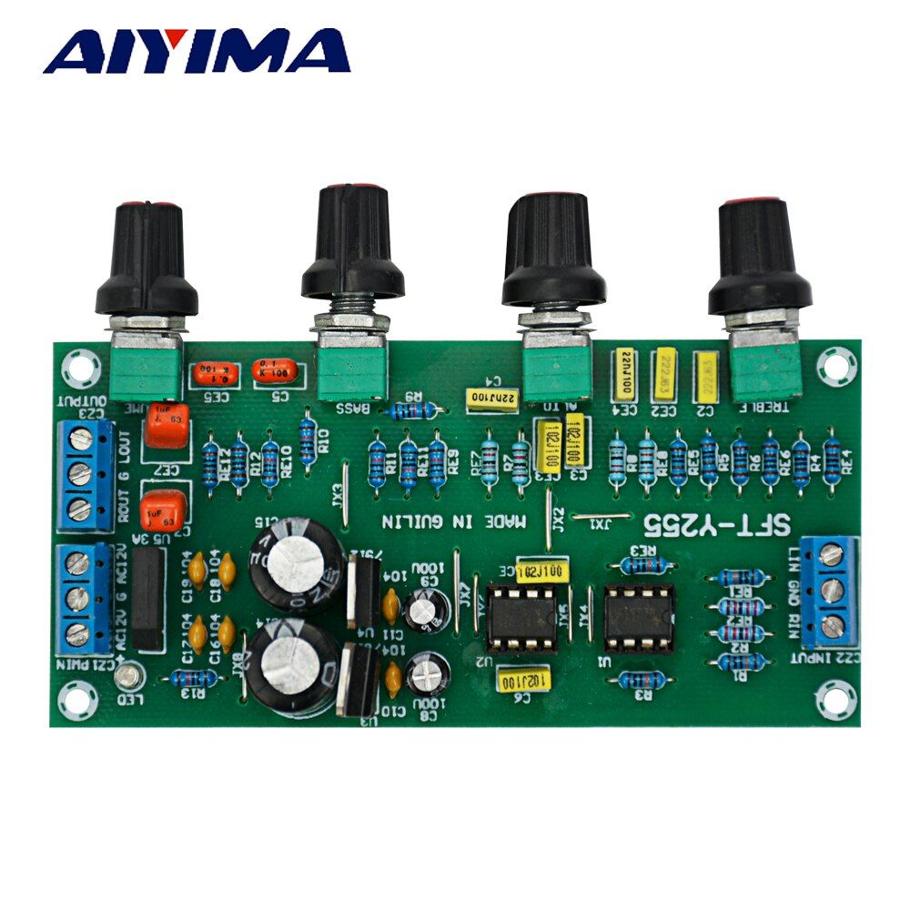 AIYIMA LM1036 N + NE5532 Preamplifier Board Tone Adjust Amplifier for HIFI Steroe Audio System