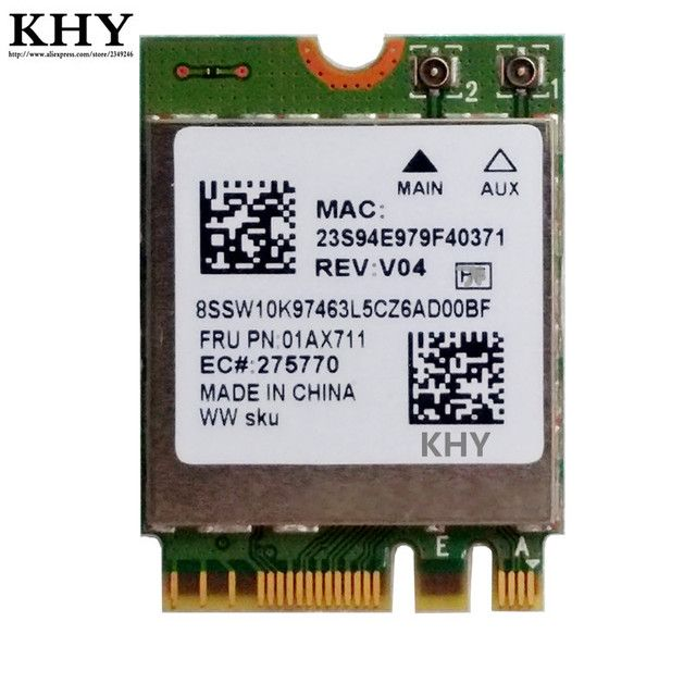 Original RTL8822BE 802.11ac wlan with Bluetooth 4.1 For Thinkpad L470 L570 S5-2ND-GEN T470 T570 X270 YOGA-370 P51S FRU: 01AX711