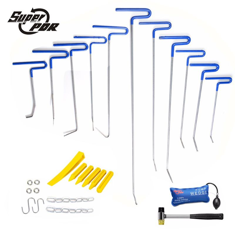 PDR Rods Hooks Tools Car Dent Repair Tool Paintless Dent Remove Spring Steel Rods Hooks for Sale