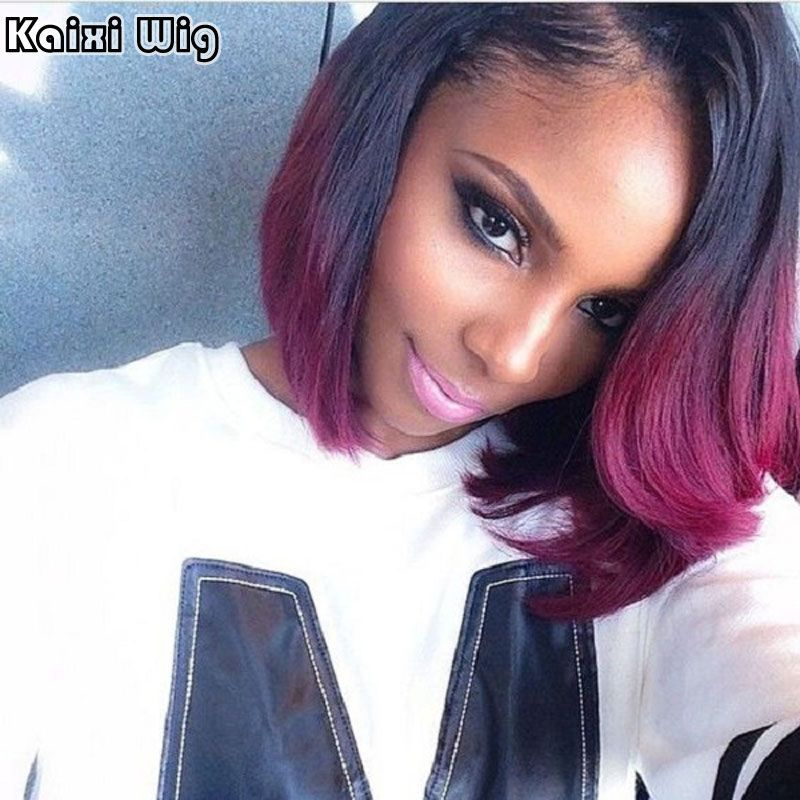 Short Burgundy Bob Red Wig Short Synthetic Wigs For Black Women Short Red Bob Wig Synthetic Heat Resistant African American Wigs