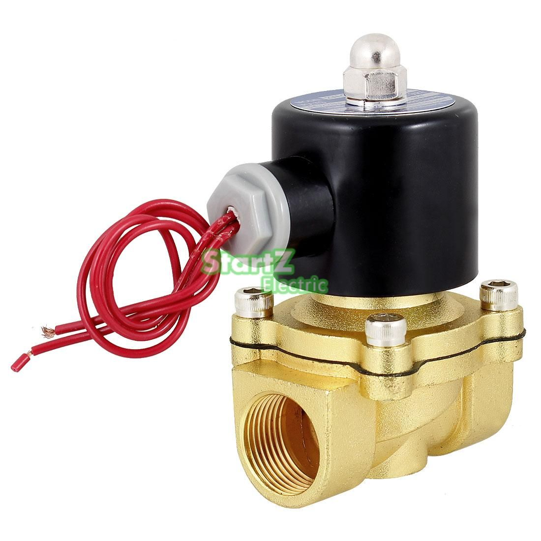 "1/2"" Inch Electric Air Gas Water Solenoid Valve Normally Closed DC12V DC24V AC110V AC220V"