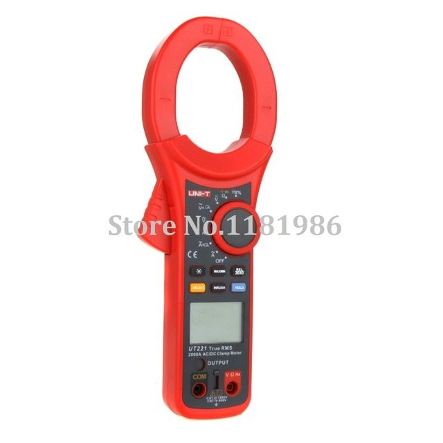 UNI-T Professional LCD Backlight 2000A True RMS Digital Clamp Meters w/ Frequency & Duty Cycle Test Multimetro Multimeter UT221