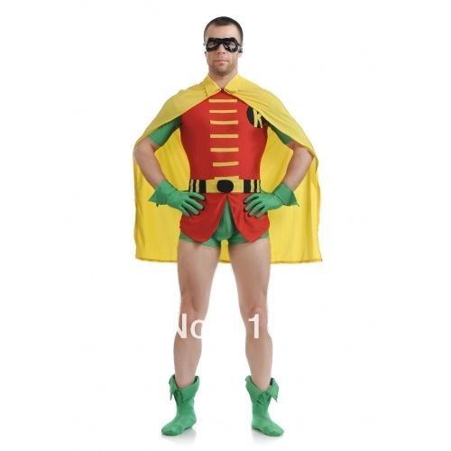 Batman and Robin costume Original superhero costume spandex high-elastic close fitted Robin Costume for halloween party