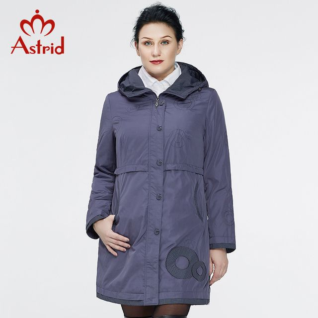 Astrid 2016 New Coats For Women Autumn Trench Coat Women's Fashion  Long Sleeve High Quality Hooded Plus Size AS-9568