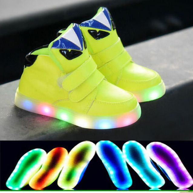 2016 European LED light Famous brand kids sneakers,Cool printing children boots,hot sales cute kids shoes,children sneakers