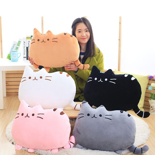 1pc Kawaii Biscuits cats 40*30cm Cute Stuffed Animal Plush Toys Dolls Biscuits Shape Pillow Cushion for  kid Home  Decoration